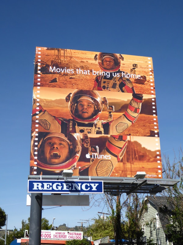 Martian iTunes movie billboard