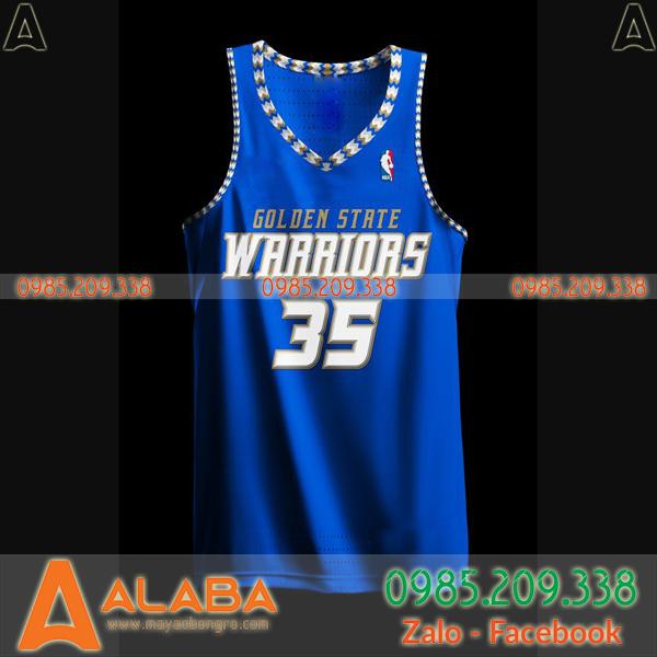 Áo bóng rổ Warriors màu xanh đẹp