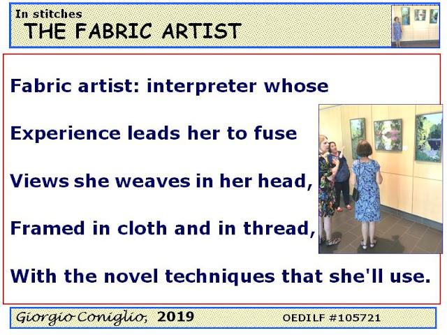 the arts; textiles; limerick; Giorgio Coniglio
