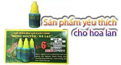 Chế phẩm Hùng Nguyễn chuyên dùng cho hoa lan