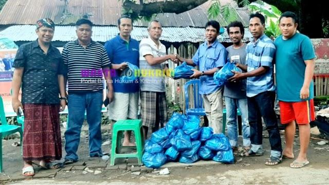 Doktor Raihan Didampingi Dedi Antara dan Bos Mahmud Salurkan Bantuan Korban Banjir