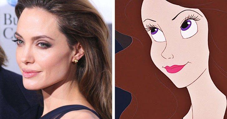 Angelina Jolie como Vanessa (alter-ego de Úrsula), de A Pequena Sereia