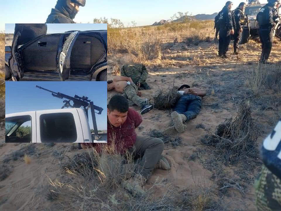 IMÁGENES: Estatales detienen a Malandros empecherados en camionetas con blindaje artesanal