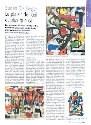 danièle gillemon à propos de l'exposition de stefan de jaeger au salon d'art dans le mad du 13 janvier 2021