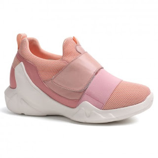 Women Elevator Shoes Pink Sneaker With Lifts Heiht Insole Shoes To Look Taller 7 CM /2.76 Inches