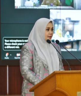 Bupati Bima Hj indah Dhamayanti Putri, SE Hadiri Sidang Paripurna Raperda RPJMD Bima 2021 - 2026