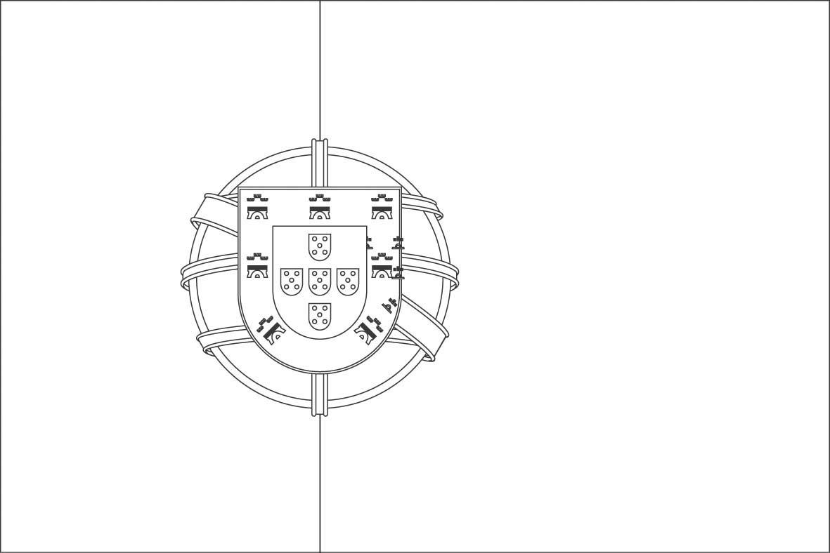 Dessins et coloriages page de coloriage grand format imprimer le drapeau du portugal - Dessin drapeau portugal ...
