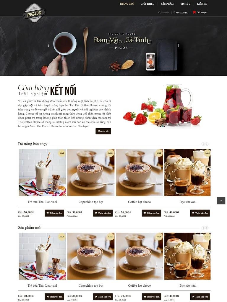 Template blogspot bán cà phê đẹp chuẩn seo - Ảnh 1