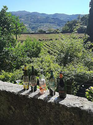 garrafas de vinhos na Quinta de Covela