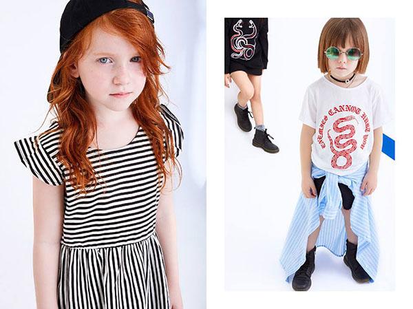 MODA 2018: Mini Complot vestidos primavera verano 2018 ropa para niñas.