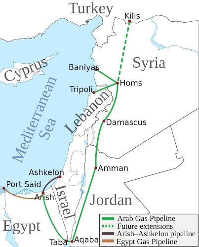 the arab gas pipeline agp is a natural gas pipeline in the middle east it exports egyptian natural gas to jordan syria and lebanon with a branch