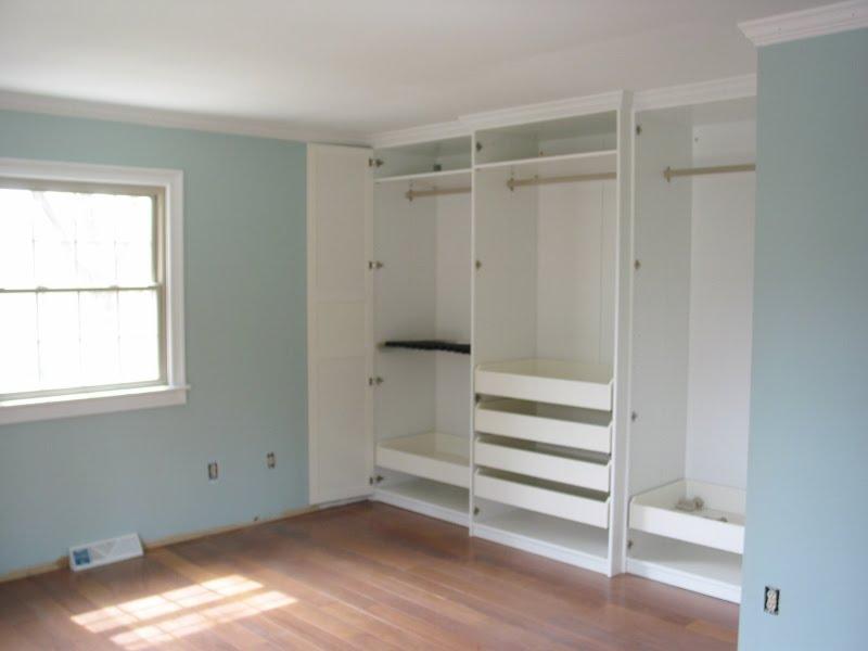 Niesz Vintage Home...and Fabric: Master Bedroom Ikea Closet