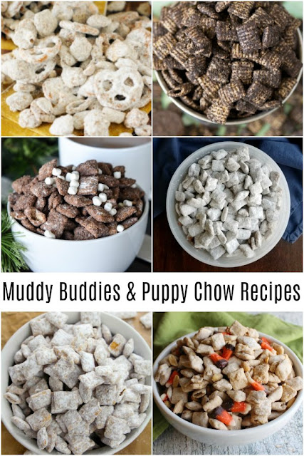 Puppy chow or muddy buddies are perfect little sweet treats for any occasion. They are generally super fast and easy to make and so much fun to eat. This collection of great recipes is sure to inspire you whip up several batches!