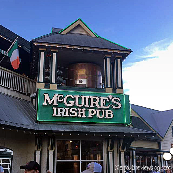 Outside of McGuire's Irish Pub