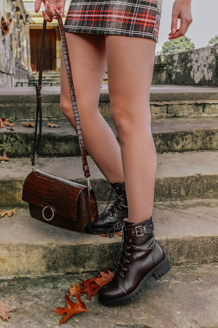Anna Field Lace-up Brown Ankle Biker Boots Zalando