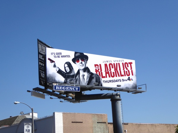 The Blacklist season 3 NBC billboard
