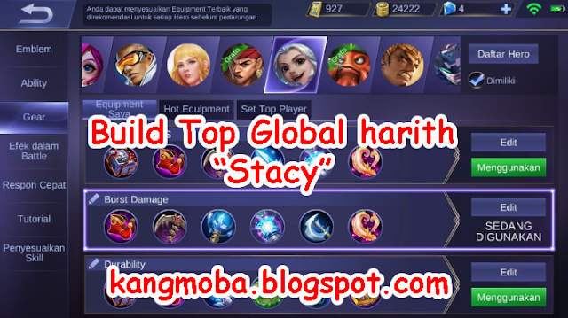 Build Harith Top Player Global by Stacy | Mobile Legends