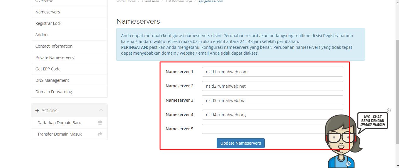 tahapan memasang cloudflare di blog - 4