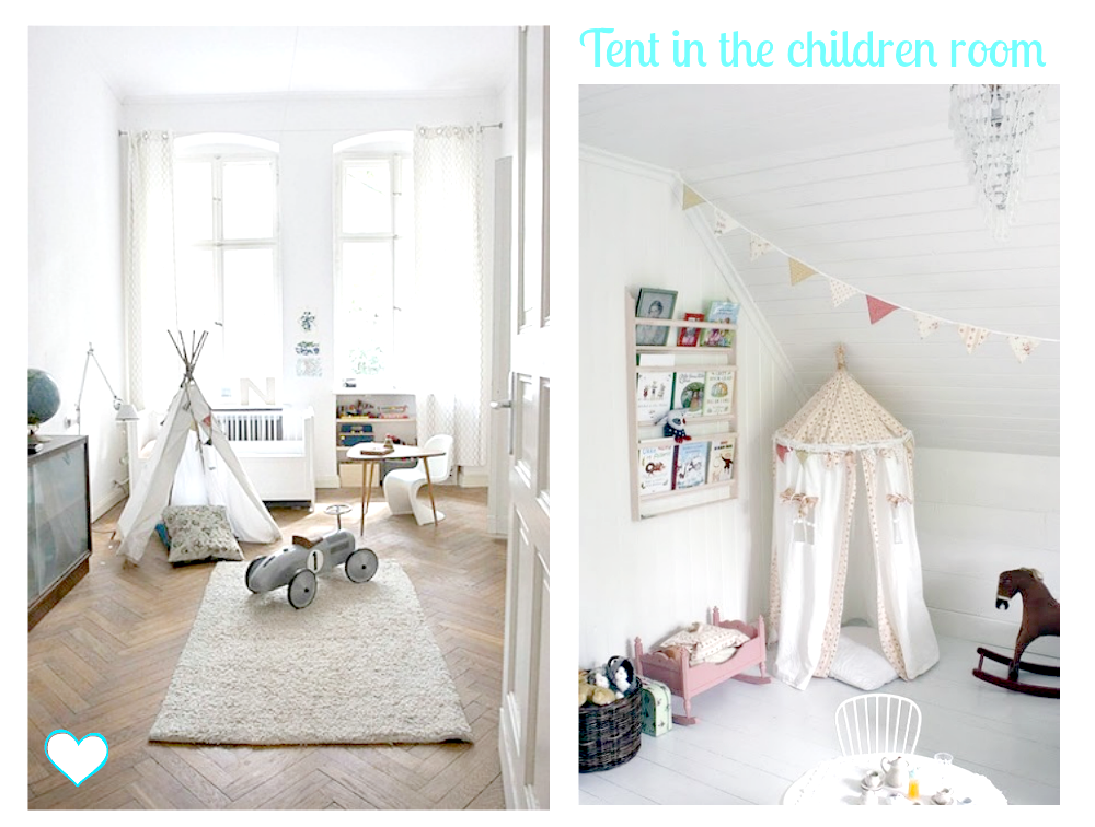 children room with tent