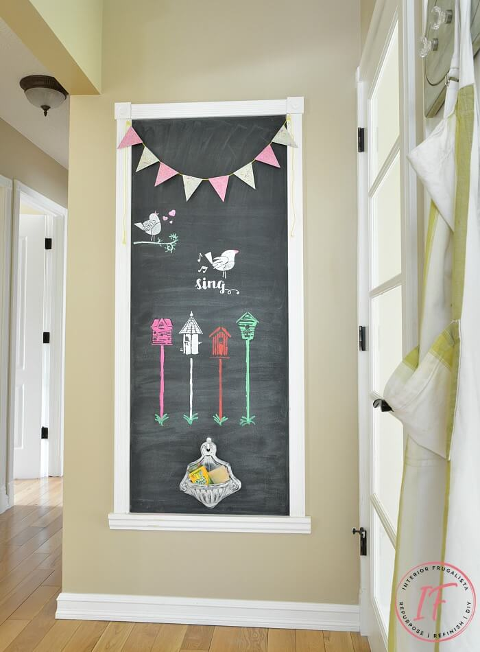 Kitchen Chalkboard Wall In Five Simple Steps