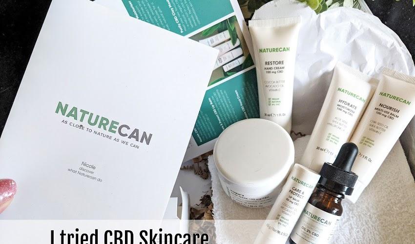 GIFTED: I tried CBD skincare - Naturecan Review!