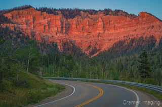Cramer Imaging's fine art landscape photograph of the Cedar Breaks National Monument amphitheater in Utah at sunset