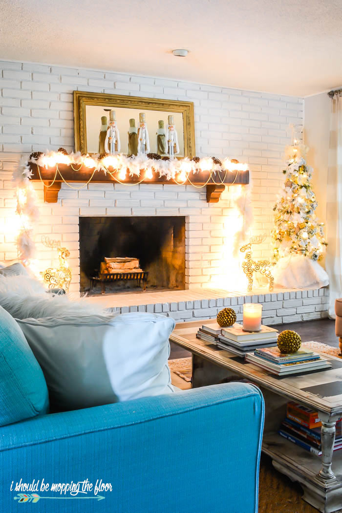 Mid Century Modern Christmas Living Room