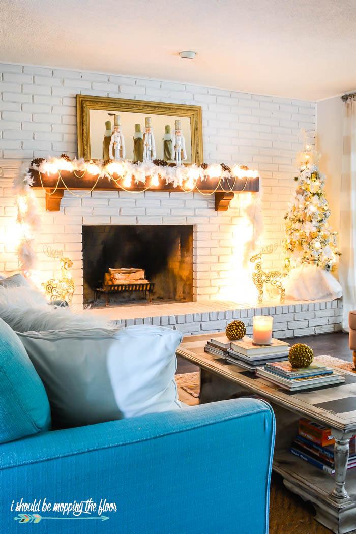 Mid Century Modern Christmas Living Room