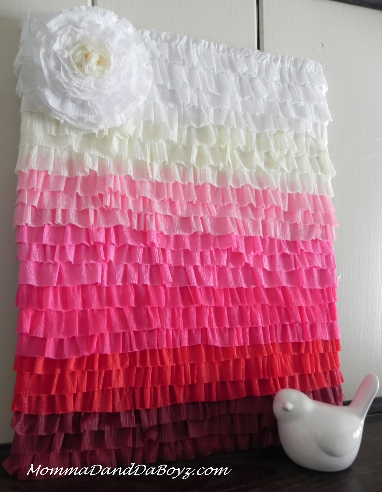 Diy Backdrop Stand For Dessert Table Crepe Paper Ruffled Ombre Art Momma D And Da Boyz