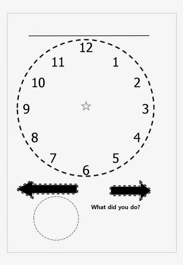 Clock Project for Past Tense ! Free download :) ~ Mrs
