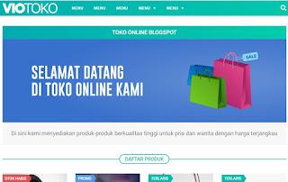 review penggunaan template toko online blogspot vio toko mas sugeng
