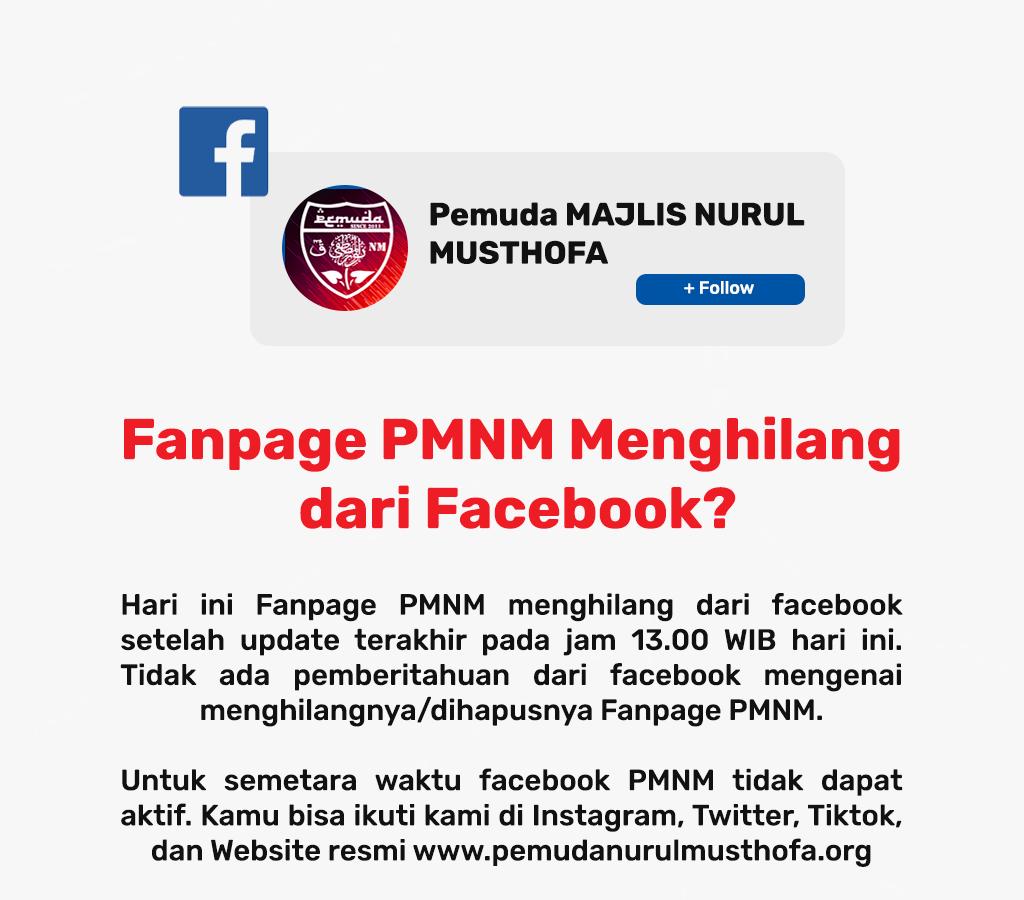 Akun Facebook Resmi PMNM Menghilang/Dihapus
