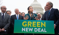 U.S. Rep. Alexandria Ocasio-Cortez and Senator Ed Markey announce Green New Deal legislation in Washington on February 7, 2019. (Photo Credit: Saul Loeb/AFP/Getty Images) Click to Enlarge.