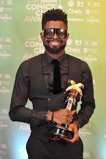 Basket mouth wins savanna pan-african award of the year.