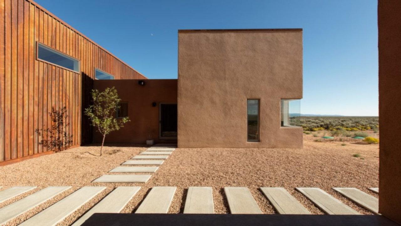 fachadas de casas de adobe
