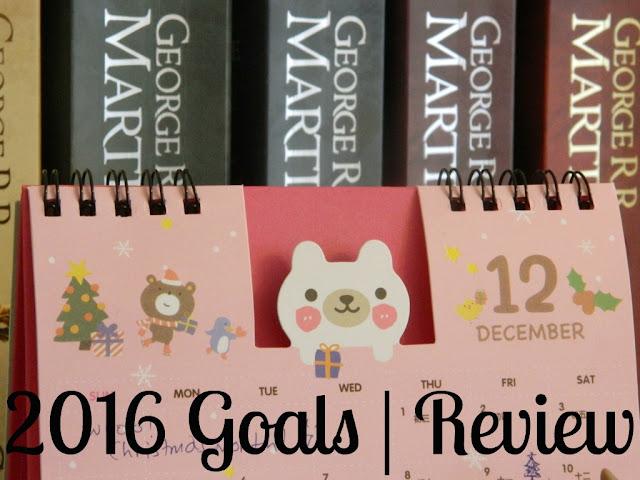 2016 Goals Review