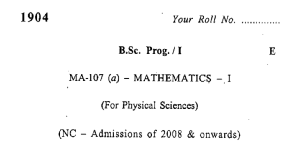 Download PDF For bsc 1st year maths question paper 2019 pdf