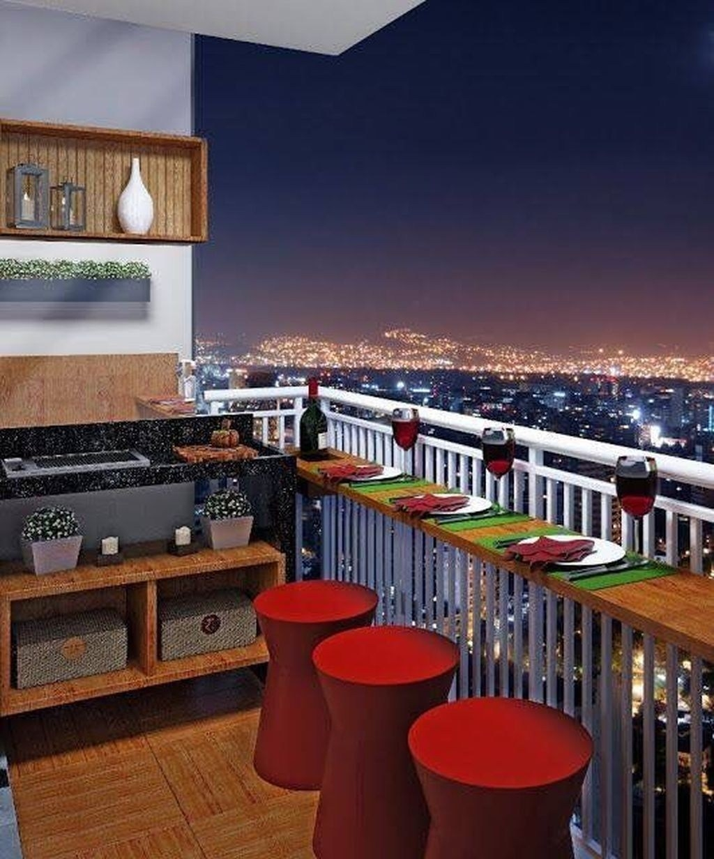 52 Comfortable Balcony Mini Bar Design Ideas That Fit In Your Apartment Ara Home