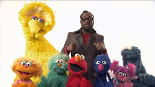 Will.i.am and Elmo, Grover, Rosita, Zoe, Abby Cadabby, Cookie Monster, Big bird sing what I am, Sesame Street Episode 4414 The Wild Brunch season 44