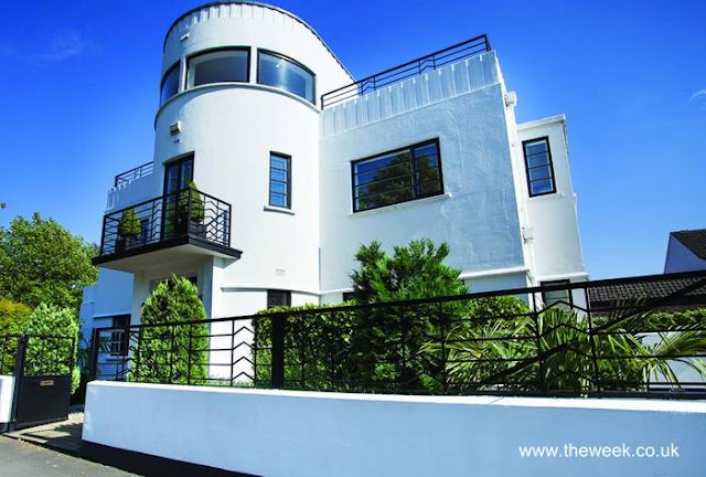 Residencia moderna estilo Art Decó en Inglaterra