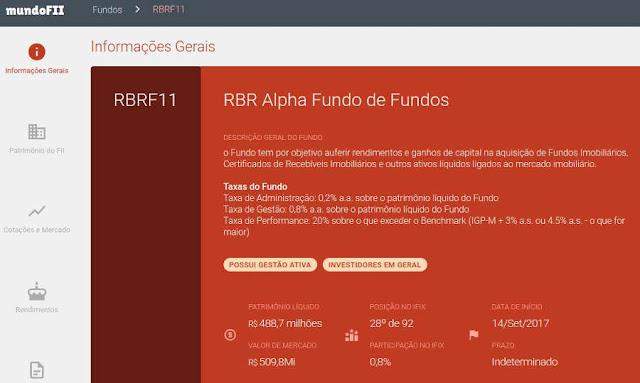 Informações sobre os Fundos de Investimento Imobiliário