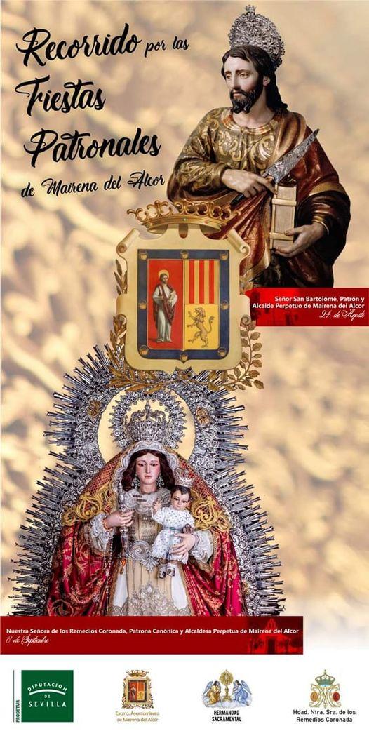 Cartel de las fiestas patronales es las hermandades de Mairena del Alcor 2021