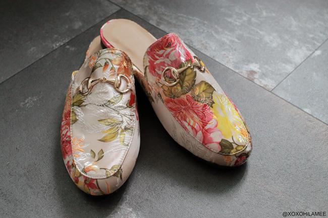 Japanese Fashion Blogger,Mizuho K,6月に買ったモノ,SheIn-花柄刺繍ローファー風スリッパ