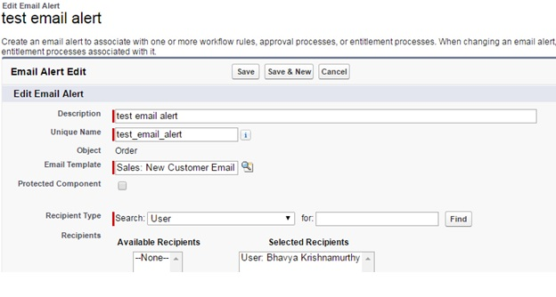 Salesforce com - Using Process Builder and Creating an Email