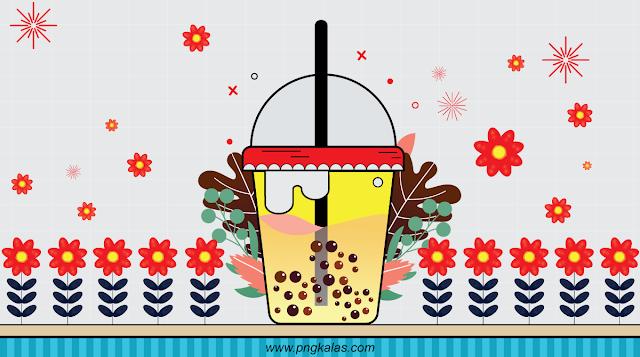 Bubble Tea Vector Design Template