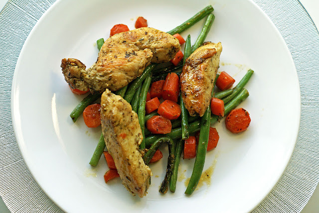 Quick, delicious one-pot meal of chicken, green beans and carrots that has the sophisticated taste of tarragon and clementines. Easy enough for a weeknight and delicious enough for company.