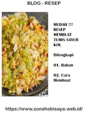 MUDAH !!! Resep Cara Bikin Tumis Sayur Kol