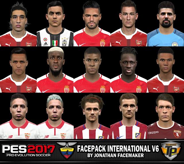 PES 2017 Facepack International v6 by Jonathan Facemaker