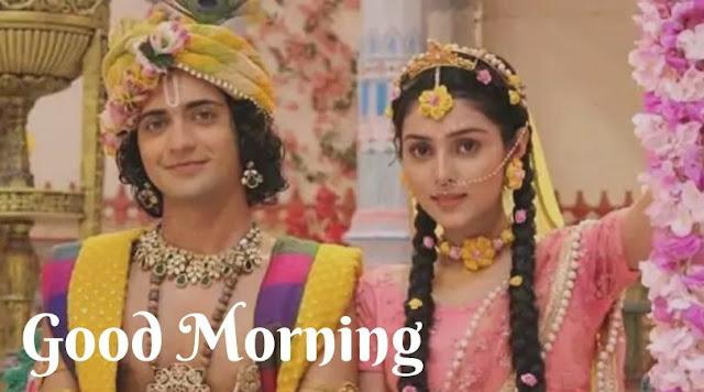 radha krishna romantic good morning images