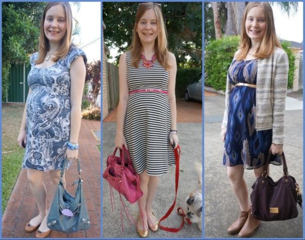 AwayFromBlue | Second Trimester OfficeWear non-maternity printed dresses